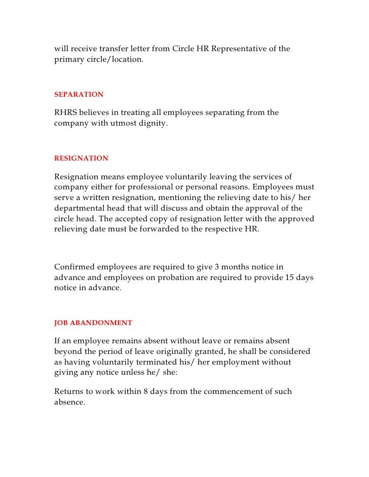 Job Abandonment Letter Employment Termination 48 Examples Of