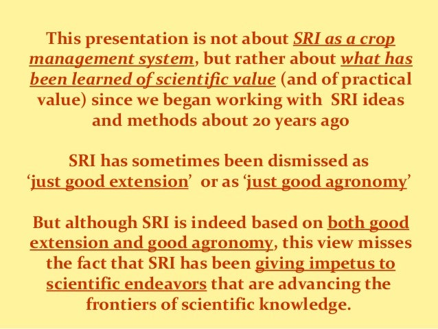 1801- What has been learned of scientific value from SRI research and experience Slide 3
