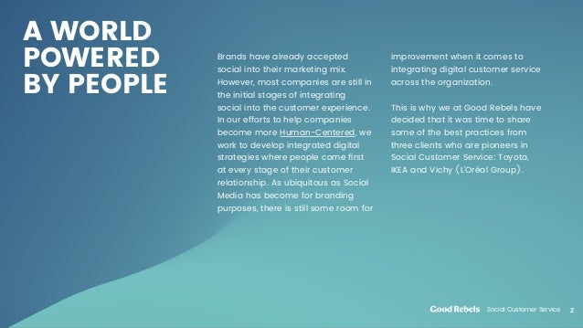 Social Customer Service Slide 2