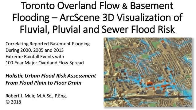 Toronto Overland Flow & Basement Flooding – ArcScene 3D Visualization of Fluvial, Pluvial and Sewer Flood Risk Correlating...