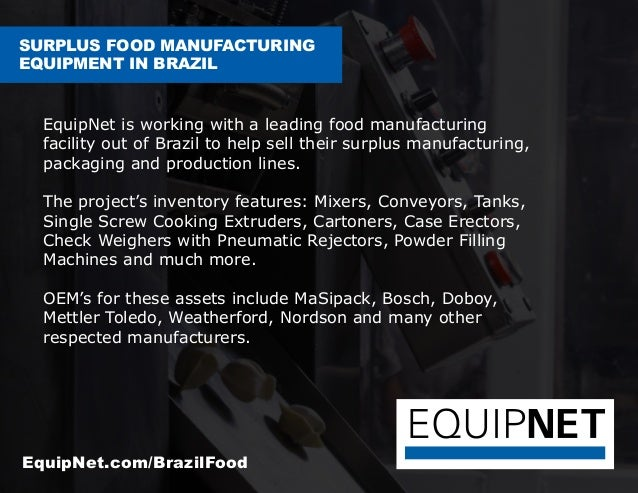 Surplus Food Equipment Brazil