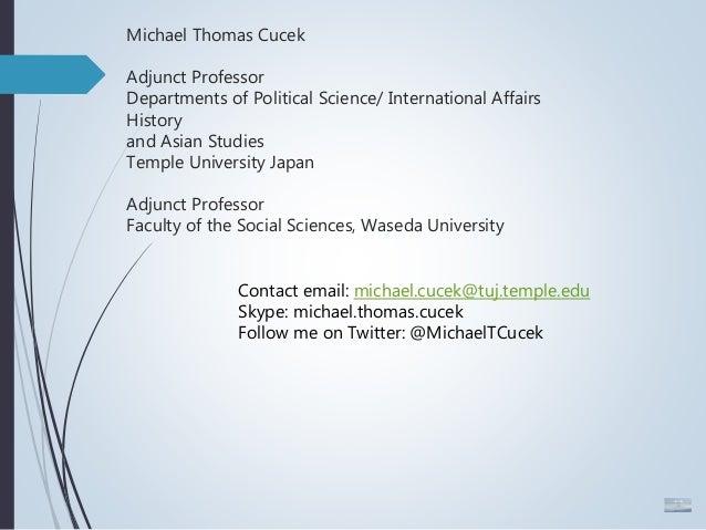 Public Lecture Slides (2 21 2018) Michael Cucek: Update on