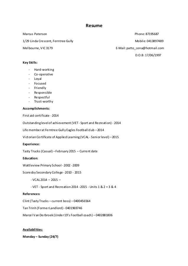 vcal cover letter