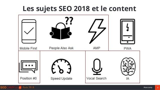 Content marketing : quelles stratégies pour le SEO en 2018 ? Slide 3