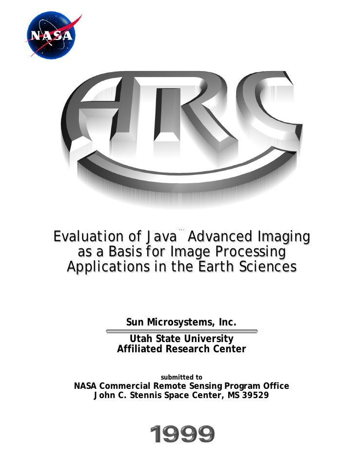 Evaluation of Java™ Advanced Imaging    as a Basis for Image Processing   Applications in the Earth Sciences              ...