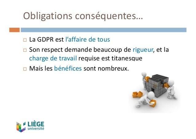 Obligationsconséquentes… ¨ LaGDPRestl'affairedetous ¨ Sonrespectdemandebeaucoupderigueur,etla chargedetrav...