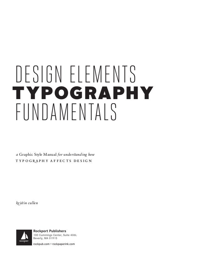 Design elements typography fundamentals by kristin cullen fandeluxe Gallery