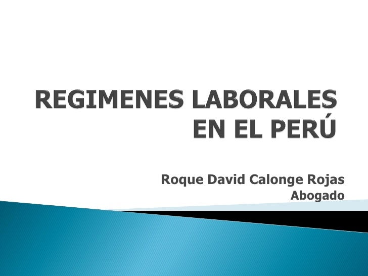 Roque David Calonge Rojas                 Abogado