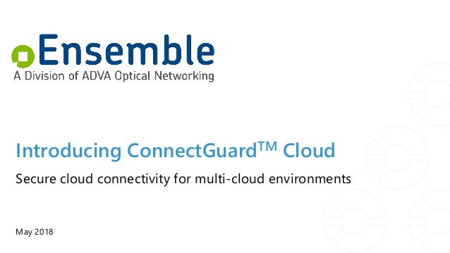 Introducing ConnectGuardTM Cloud May 2018 Secure cloud connectivity for multi-cloud environments