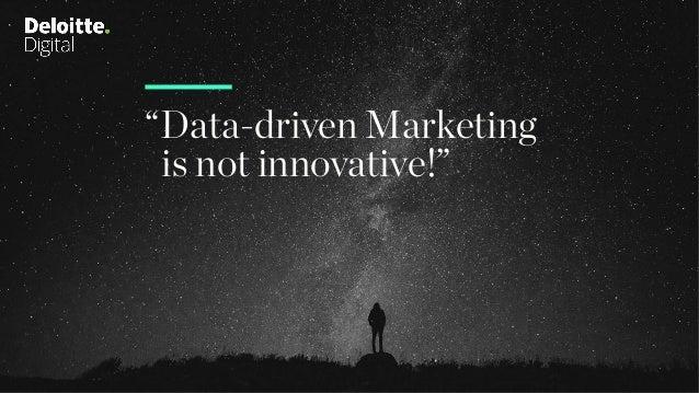 """Data-driven Marketing is not innovative!"""