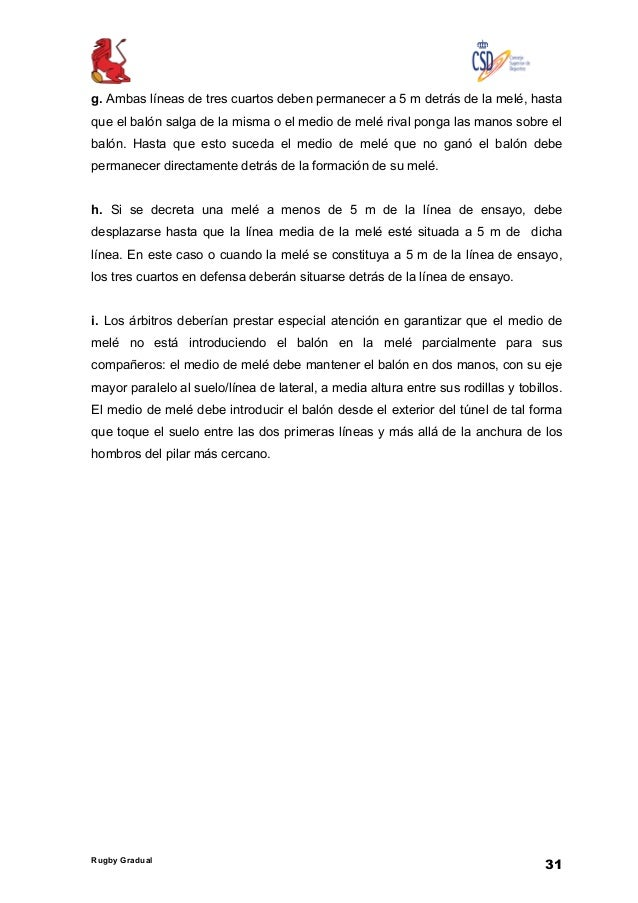 Reglamento Rugby Gradual FER