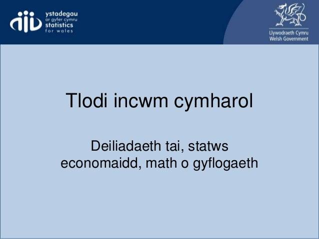 Tlodi incwm cymharol Deiliadaeth tai, statws economaidd, math o gyflogaeth