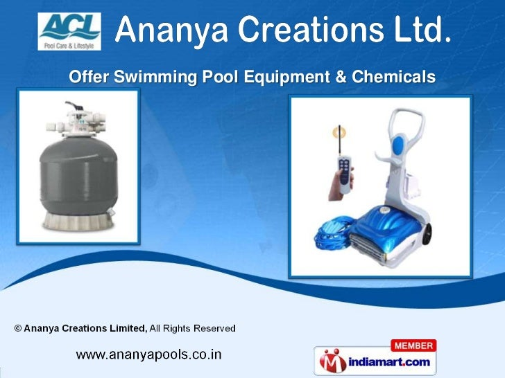 Swimming pool equipment accessories by ananya creations Swimming pool equipment services supplies
