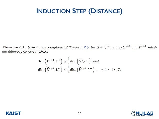 INDUCTION STEP (DISTANCE) !35