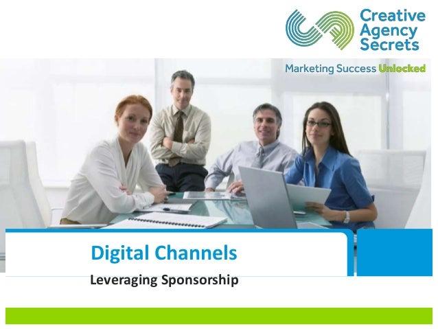 Digital Channels Leveraging Sponsorship