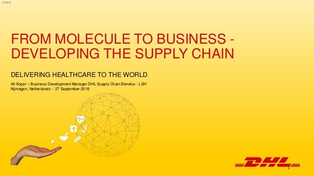 PUBLIC FROM MOLECULE TO BUSINESS - DEVELOPING THE SUPPLY CHAIN DELIVERING HEALTHCARE TO THE WORLD Ali Koçer – Business Dev...