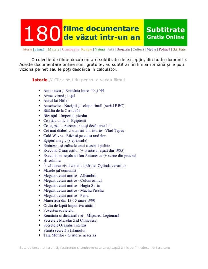 180                          filme documentare Subtitrate                                de văzut într-un an Gratis Online...
