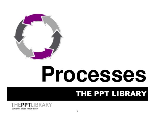 1 THE PPT LIBRARY Processes