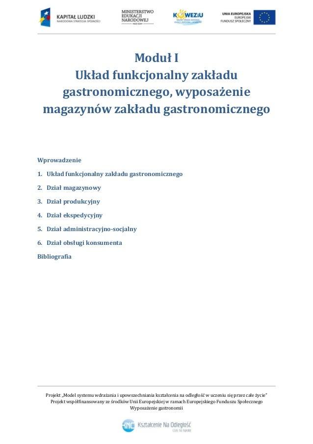 Rewelacyjny 1. Układ funkcjonalny zakładu gastronomicznego BB81