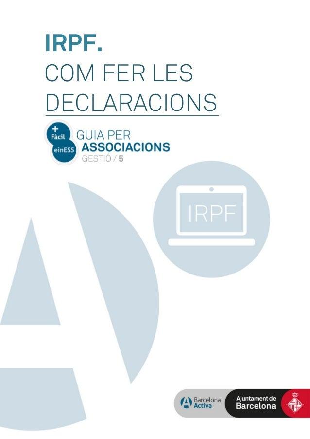 IRPF. COM FER LES DECLARACIONS