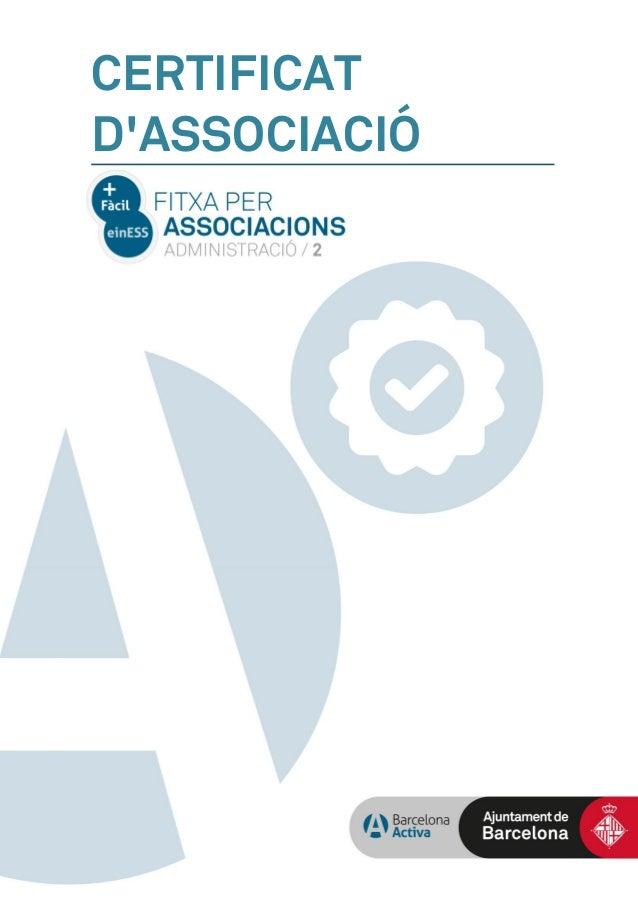 CERTIFICAT D'ASSOCIACIÓ