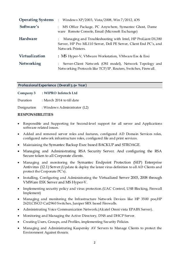 resume ganesan a server administrator 3 9 year exp