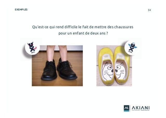 34 Qu'est-ce qui rend difficile le fait de mettre des chaussures pour un enfant de deux ans ? EXEMPLES