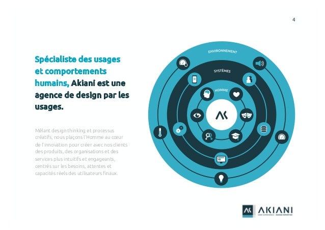 4 Spécialiste des usages et comportements humains, Akiani est une agence de design par les usages. Mêlant design thinking ...