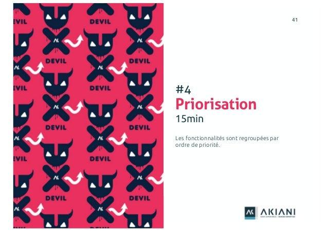 4141 #4 Priorisation 15min Les fonctionnalités sont regroupées par ordre de priorité.