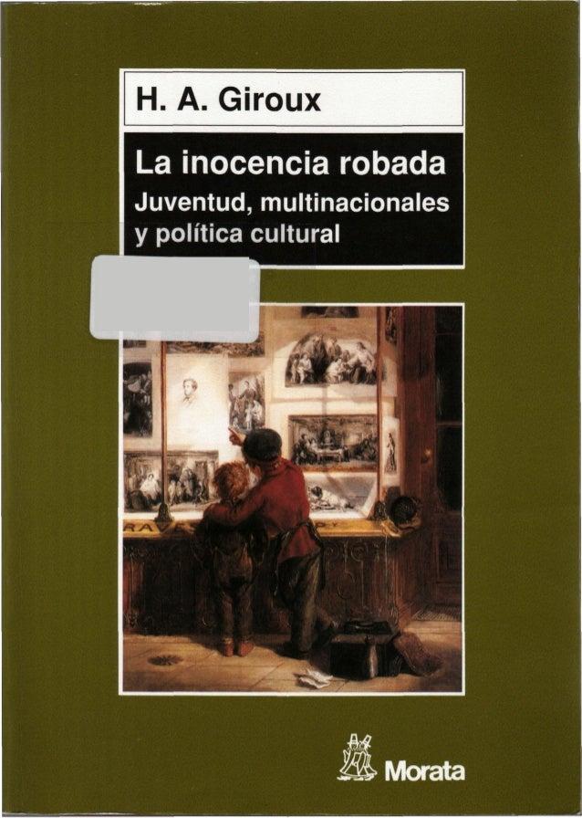 La inocencia robada Juventud, multinacionales y política cultural « mMoiata