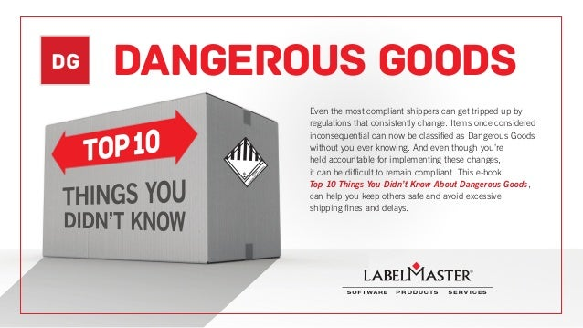DG DANGEROUS GOODS Even the most compliant shippers can get tripped up by regulations that consistently change. Items once...