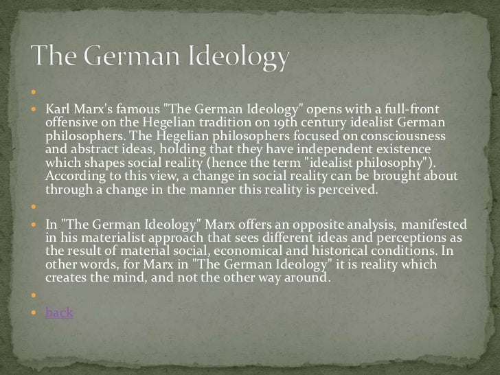 The german ideology summary