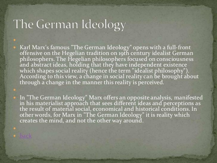 The german ideology summary