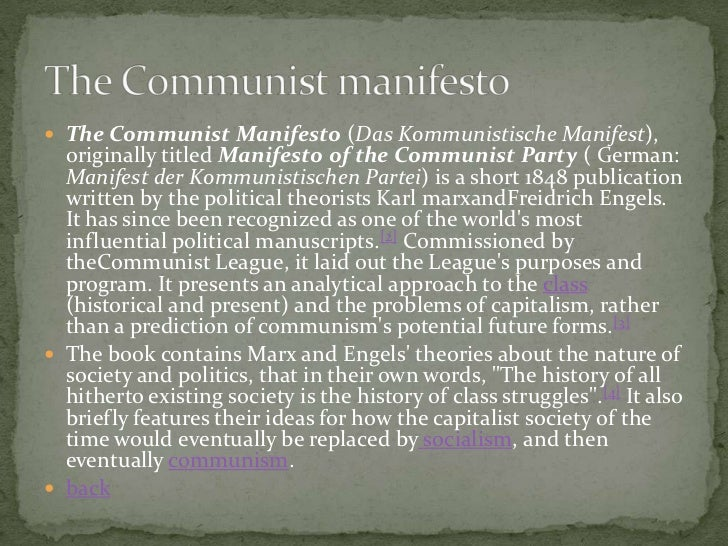 """influence of karl marxs communist manifesto on lenins political views Karl marx and vladimir ilych lenin were two of the key thinkers in the history of communist ideology it was marx who founded the system in the original """"communist manifesto"""" with fellow german, friedrich engels lenin attempted to form his own interpretation of this ideology to lead the ."""