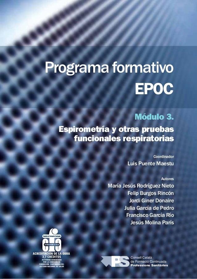 Programa Formativo Epoc Módulo 3 Espirometría Y Otras