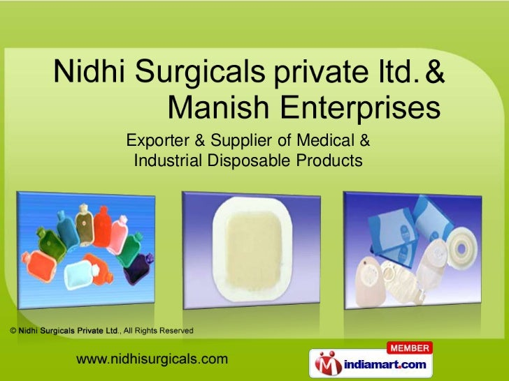 Exporter & Supplier of Medical & Industrial Disposable Products