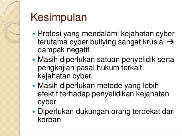 Profesi Penyelidik Kejahaan Cyber Dan Keterkaitannya Dengan Kasus Cyb