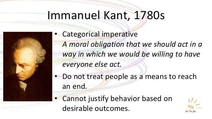 the categorical imperative essay The categorical imperative, in kant's view, is an objective –––, 2011, self-improvement: an essay in kantian ethics, new york: oxford university press.