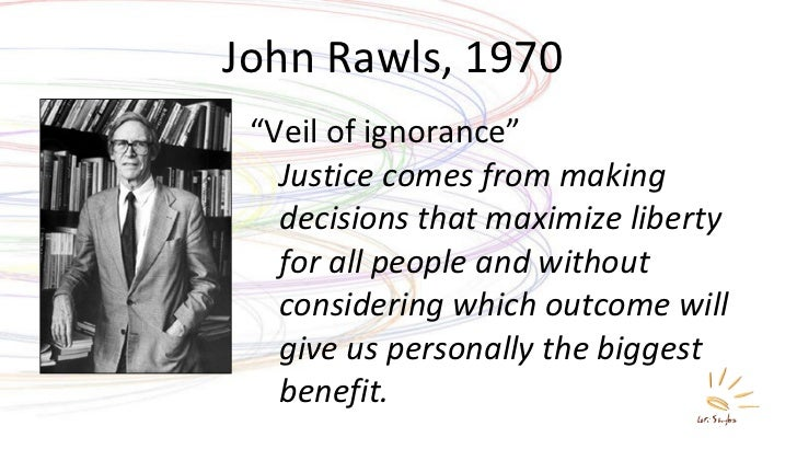 moral responsibility and the veil of ignorance according to john rawls Both plato and aristotle were rationalists as regards both human knowledge and moral veil of ignorance into a veil john rawls mean by the veil of ignorance.