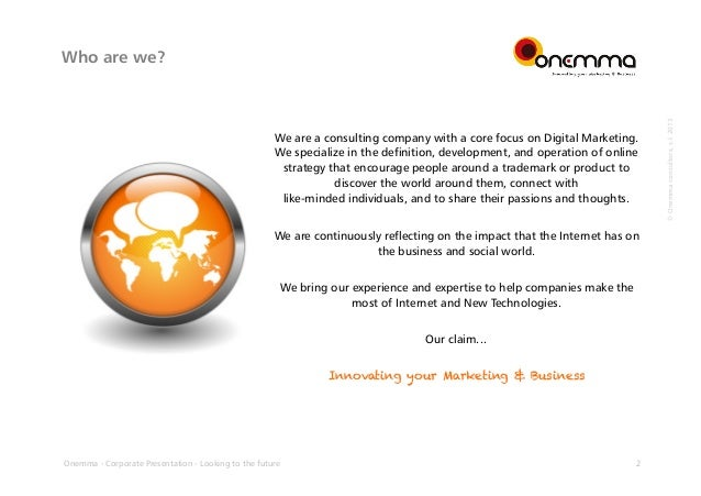 Onemma - Looking to the Future Slide 2