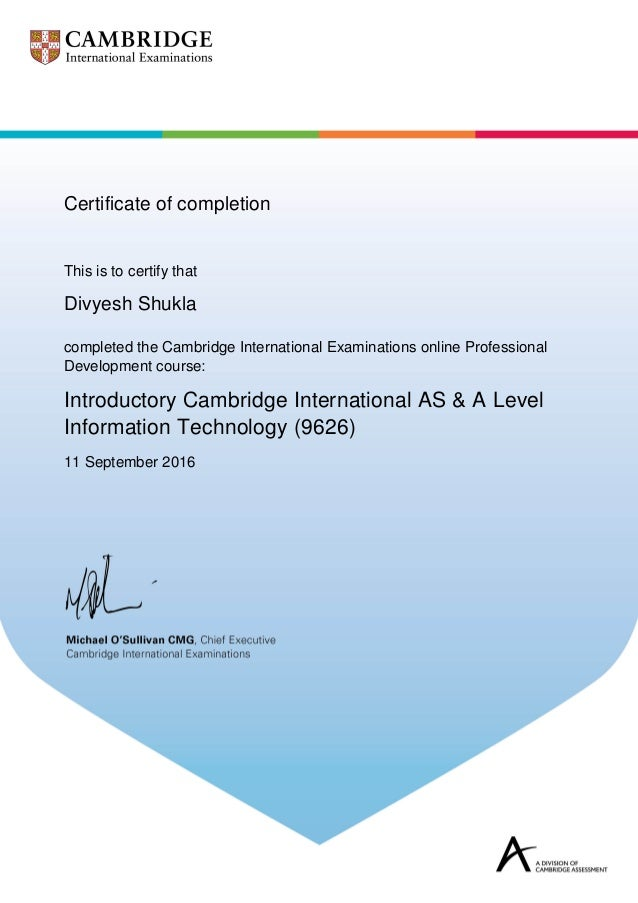 Certificate AS & A Level IT 2017