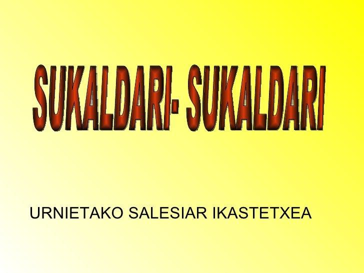 URNIETAKO SALESIAR IKASTETXEA SUKALDARI- SUKALDARI