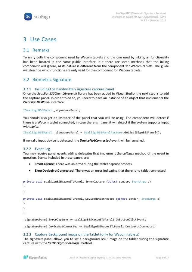 SealSign BSS Integration Guide for  NET Applications (WPF)