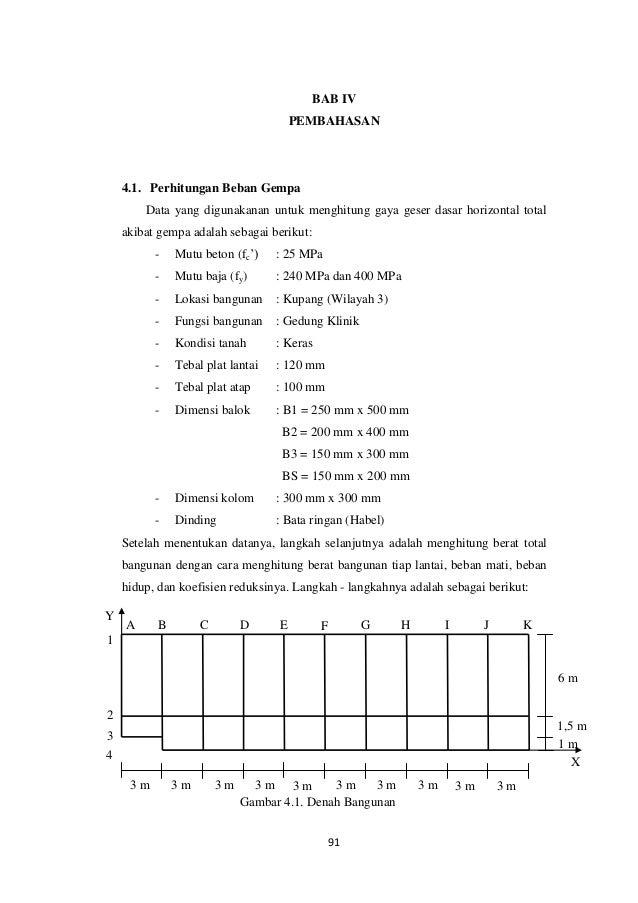183013186 Contoh Perhitungan Gempa Statik Ekuivalen