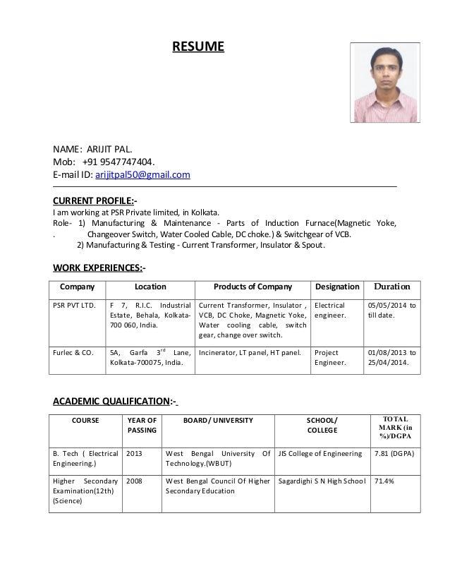 arijit pal resume ee