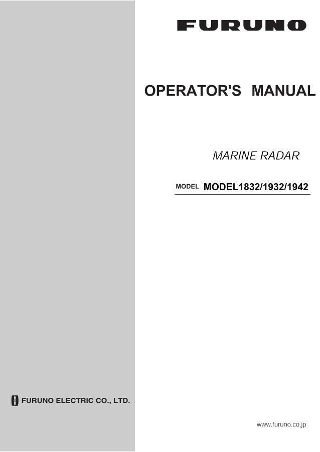 1832 1932 1942 operator s manual s 2 3 09 radar furuno rh slideshare net