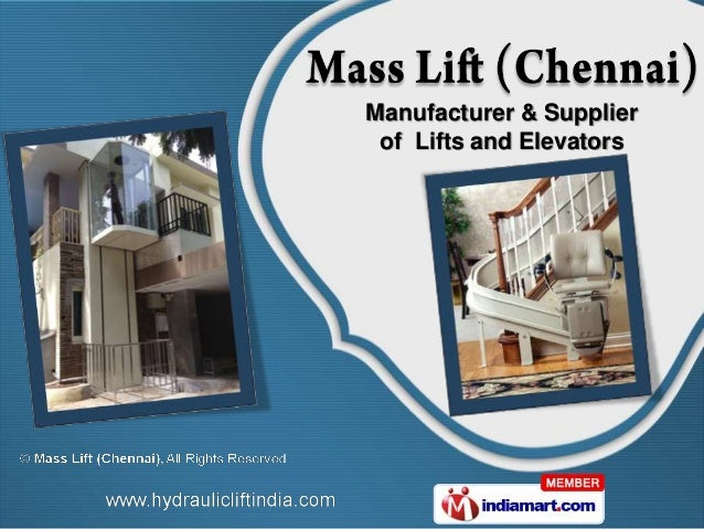 Manufacturer & Supplier of Lifts and Elevators