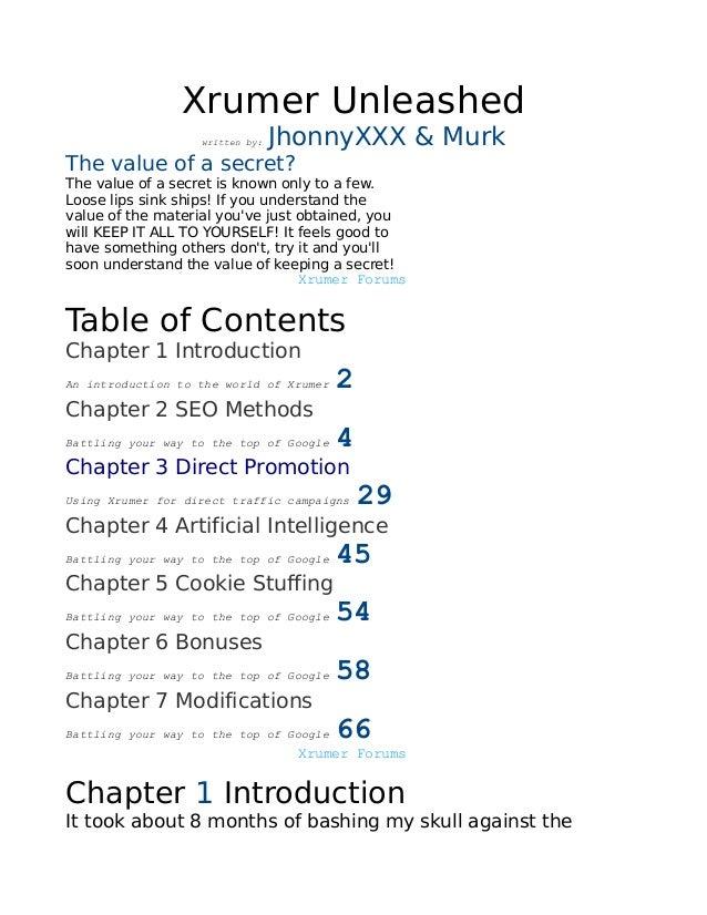 JhonnyXXX & Murk Xrumer Unleashed                Xrumer Unleashed                   written by:   JhonnyXXX & MurkThe valu...