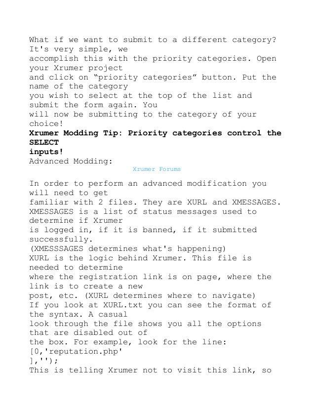 Xas.txt xrumer 2011 автоматическое продвижение сайтов бесплатно