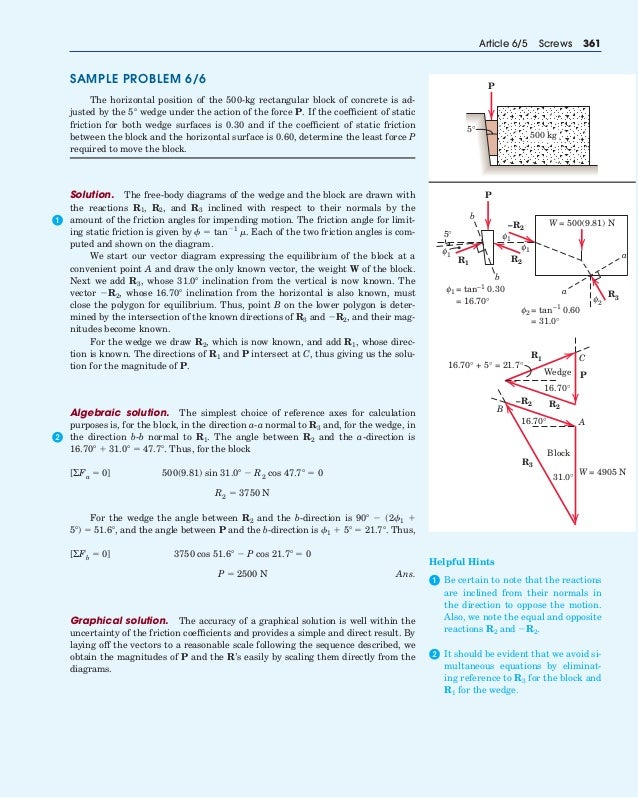 Force of the static and the kinetic friction problems and solutions